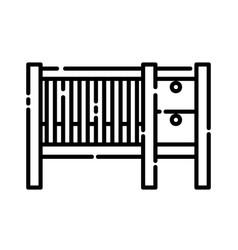 baby cribs icon design clip art line icon vector image