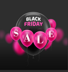 black friday sale balloons vector image