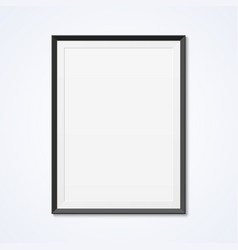 blank frame on a wall vector image