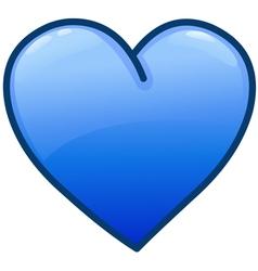 Blue heart icon vector
