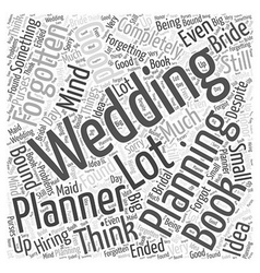 Bridal purses Word Cloud Concept vector