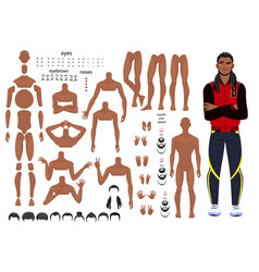 Characters set for animation parts of body vector