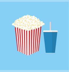 Cinema popcorn vector