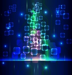 circuit abstract blue vector image