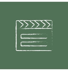 Clapboard icon drawn in chalk vector