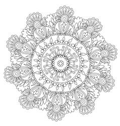Coloring Floral Flower Mandala vector