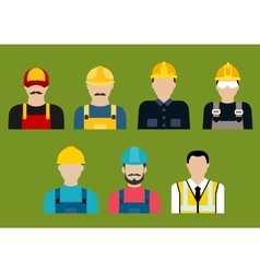 Construction and service professions avatars vector image