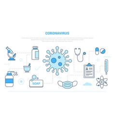 Coronavirus virus healthcare problem campaign vector