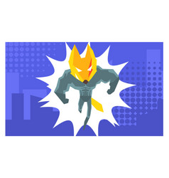 Courageous superhero fantastic animal in costume vector