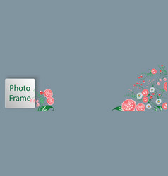 Cover for web with floral ornament in the slavic vector