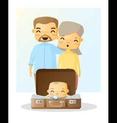 Cute family portrait Happy family background 3 vector