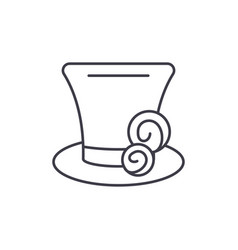cylinder hat line icon concept cylinder hat vector image