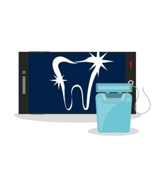 dental healthcare online icon vector image