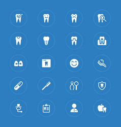 dental simple icons vector image