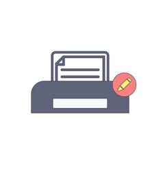 document edit paper print printer icon vector image