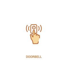 Doorbell concept 2 colored icon simple line vector