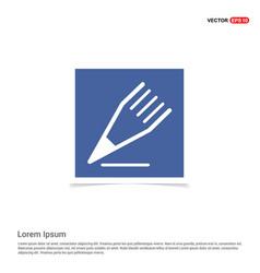 Edit pencil icon - blue photo frame vector