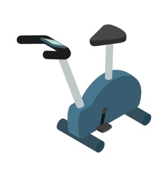 Exercise bike icon isometric 3d style vector