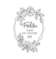 fashion floral frame for text vector image