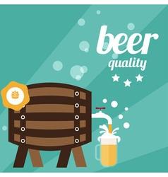 Flat design of beer theme vector