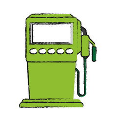 Gasoline fuel machine vector
