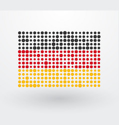 german flag made up of dots vector image