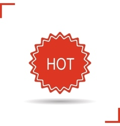 Hot badge red icon vector image