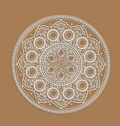 indian mandala - cut out paper cards with lace vector image