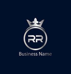 Initial letter rr logo template design vector