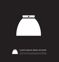 isolated clothes icon gown element can be vector image