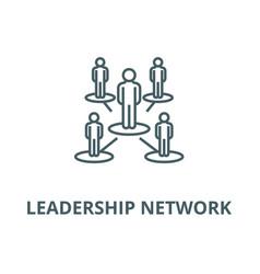 Leadership networkmultilevel line icon vector