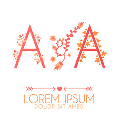Letter a and a logo a and a wedding vector