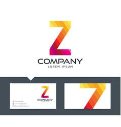 letter z - logo design vector image