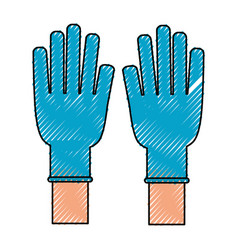 Medical gloves isolated vector