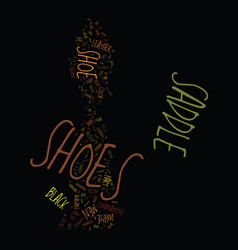 men s saddle shoes text background word cloud vector image