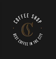 minimalistic coffee shop logo vector image