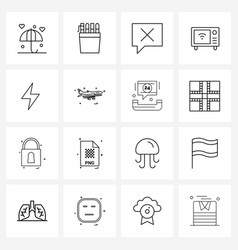 Modern line 16 simple line icons wireless vector