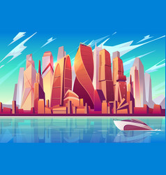 moscow downtown cityscape background vector image