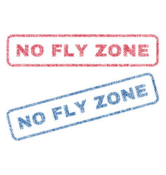 No fly zone textile stamps vector