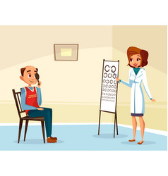 Ophtalmogogist eyesight testing concept vector