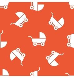 Orange pram pattern vector