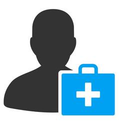 paramedic flat icon vector image
