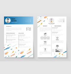 Personal resume - template vector