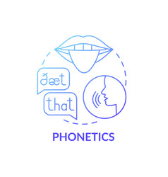 Phonetics concept icon vector