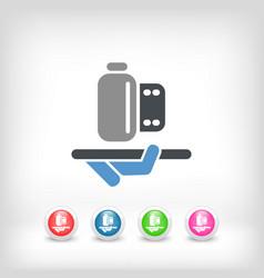 photo service icon vector image