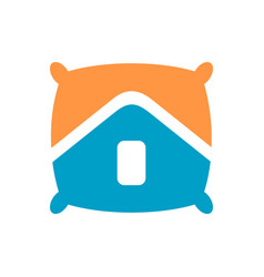 Pillow and house logo icon design template vector