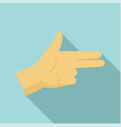 pistol hand sign icon flat style vector image
