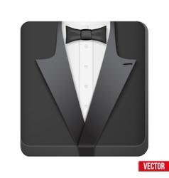 Premium Icon suit tuxedo and bow-tie vector image