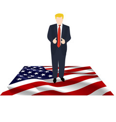 President america on flag vector