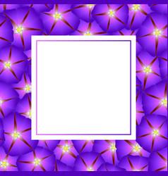 Purple morning glory flower banner card vector